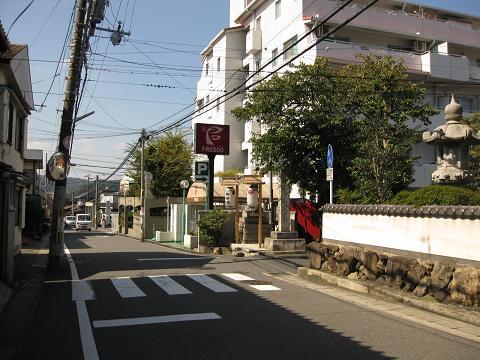 旧東海道・小関越え(三井寺観音道)分岐点