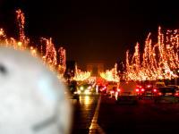 シャンゼリゼ通りより臨む夜の凱旋門