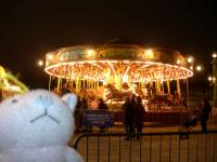 夜のコンコルド広場・メリーゴーランド