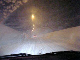 道中の雪!
