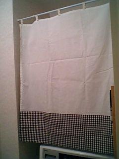 洗面棚カーテン
