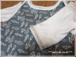 変形イカリのロンパース長袖70アップ