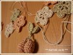 *モチーフ編み*さくらんぼ、お花