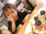 haru1歳バースデーケーキとharu