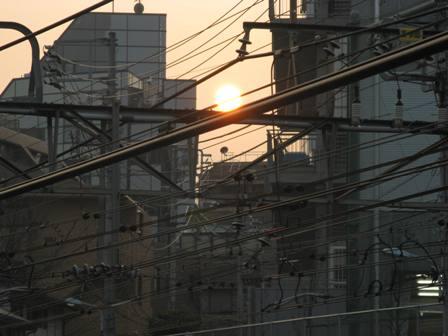 夕方の太陽