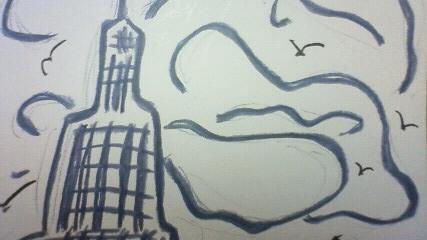 ドコモタワー絵