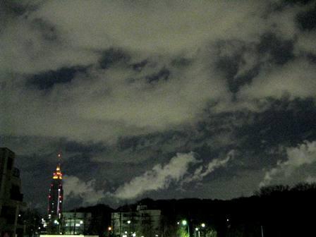 流れる雲 夜