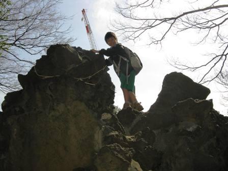 パワースポットに登る龍
