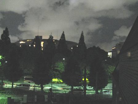 生ぬるい初夏の夜の風景