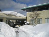 クラブハウスの雪