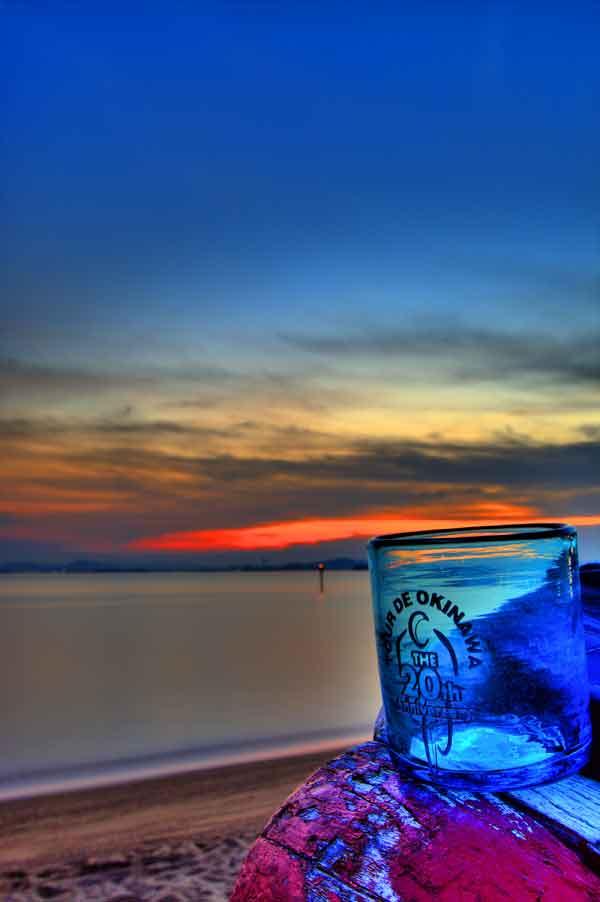 グラス4夕日
