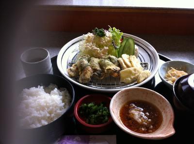 牡蠣の天ぷら定食