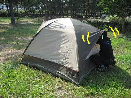 テント張り