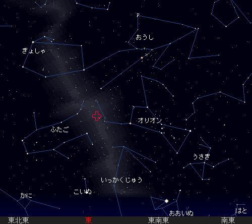 201110 22 オリオン座流星群星図0時