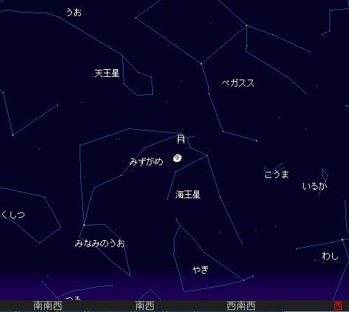 201110 9 十三夜と10月りゅう座流星群星図a