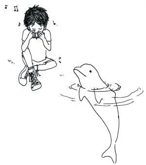 白イルカと少年