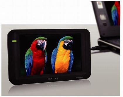 センチュリー plus one 4.3インチUSB接続サブモニター LCD-4300U