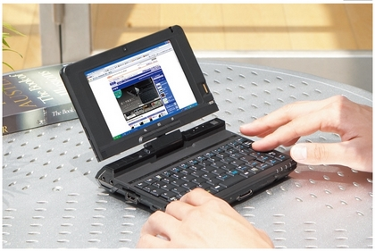 富士通、ウルトラモバイルPC「LOOX U」を発表、XP搭載、長時間駆動で価格は10万円前後、