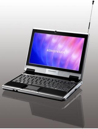 工人舎からワンセグとオフィス2007搭載のネットブック発表、価格は59,800円