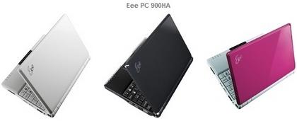 ASUSTeK、8.9型液晶、インテルAtom、160ギガのハードディスクを搭載したEee PC 900HAを発表、価格は44,800円、1月24日発売