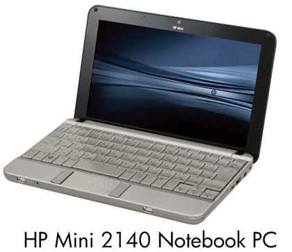 HP 2140 Mini-note PCが正式発表、発売日は3月下旬、価格は64,890円