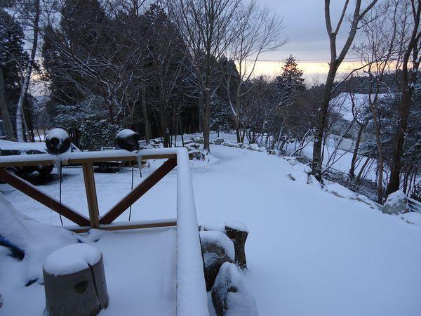 雪景色から大島方面