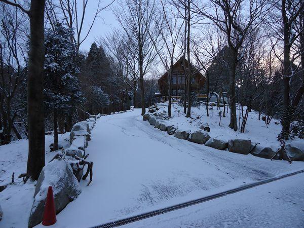 雪の入口から