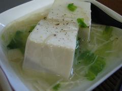 豆腐のホタテあんがけ