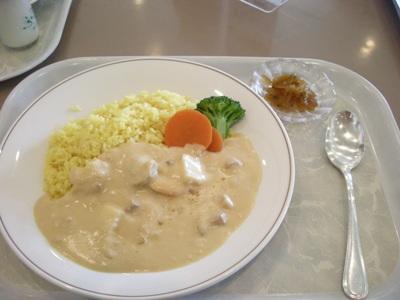 食事白いカレー