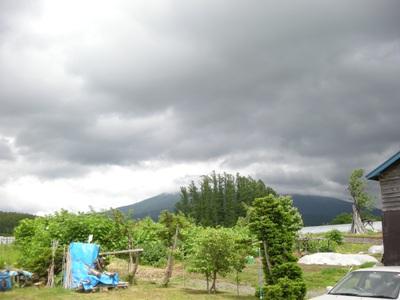 曇りの羊蹄山