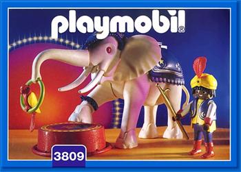 サーカスの白象_playmobil3809