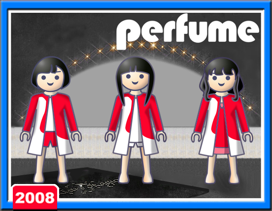 Perfumeイラスト_playmobil_love the world