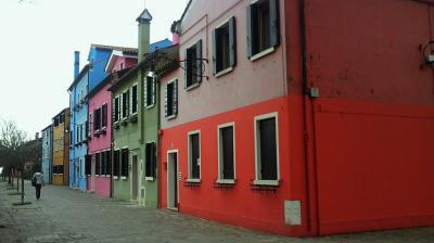 ブラーノ島の家並み