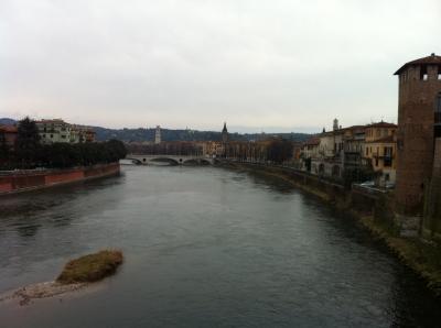スカリジェロ橋からの風景