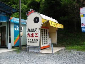 白竜湖、生みたて玉子自販機