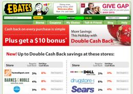 ebates.com $10 キャッシュバックキャンペーン