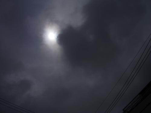 震災100日の空