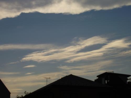 雷雲との切れ目