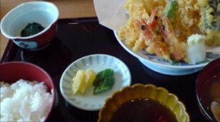 魚あら天ぷら定食