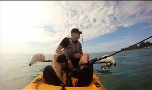 釣り人に救助されたワンコ
