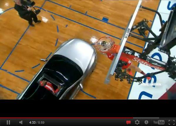 バスケットボールプレー ダンク映像