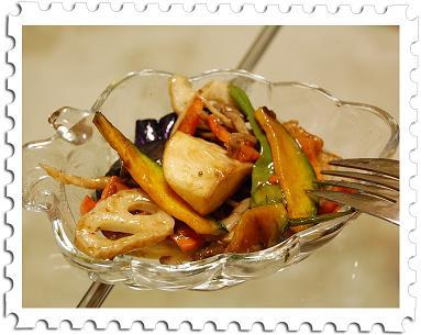 温野菜のバルコミコ酢和え ②
