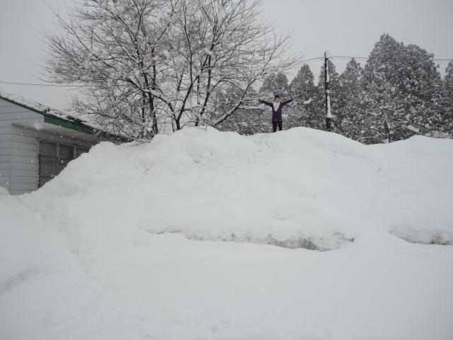 雪山に上ってみました!