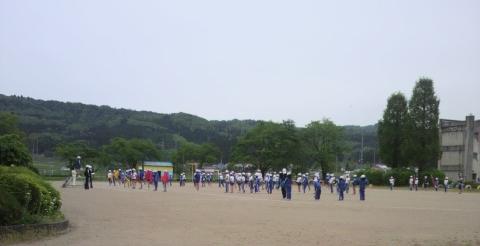 小学校鼓笛練習