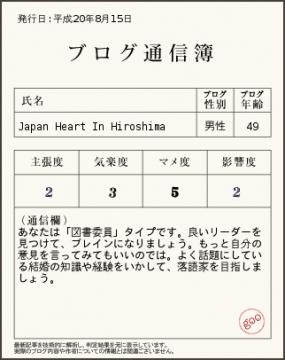 Japan Heart in hiroshima