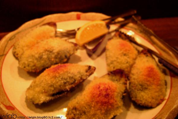 貝をオーブン焼きで
