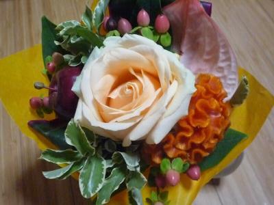 3.娘の友だちからのプレゼントの花