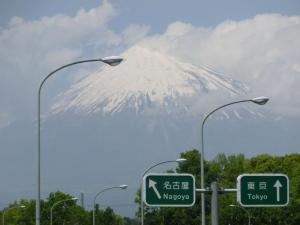 富士インターからの富士山