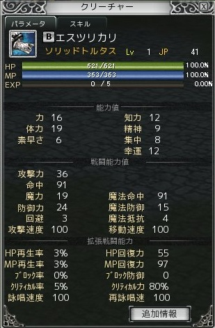+5亀ステータス