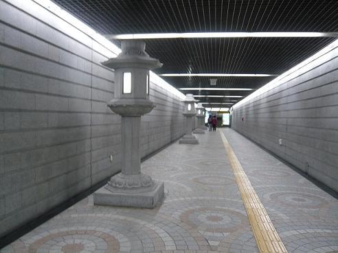 *景福宮駅の地下鉄通路~*
